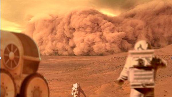 Asfixia o congelamiento por una larga tormenta de arena.