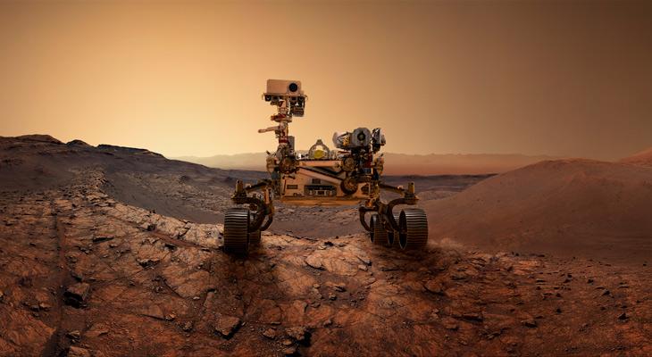 El Perseverance Rover de Marte 2020 está explorando la superficie de Marte.