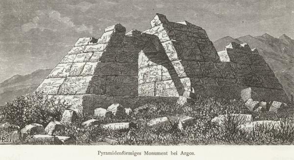 Ilustración de la pirámide de 1887.