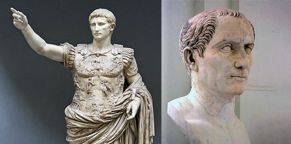 Julio César y Augusto.