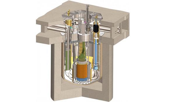Gráfico del reactor nuclear.