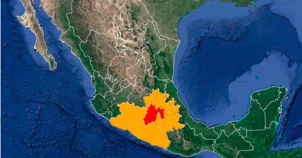Mapa coloreado de los estados de México donde podría encontrarse lo robado.