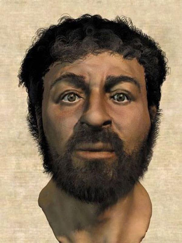 Imagen del hipotético rostros de Jesús, realizada por un equipo forense.