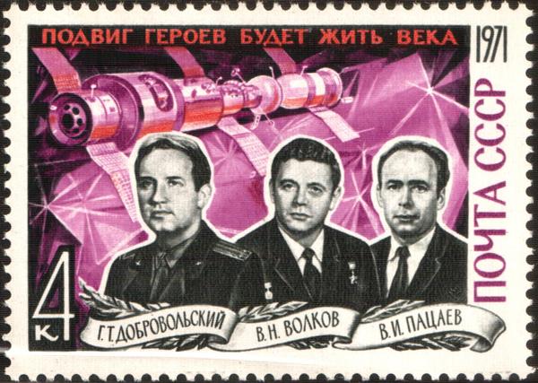 En memoria de los cosmonautas que murieron durante la misión espacial