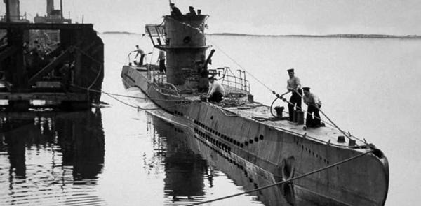 El sumergible alemán U-1206.