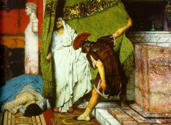 Grato proclama a Claudio emperador.