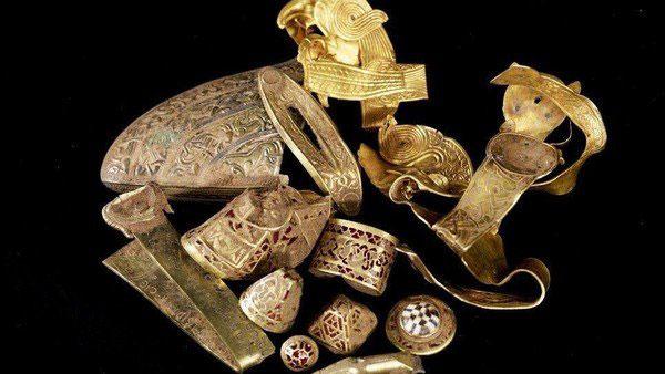 Algunas de las piezas del histórico tesoro.
