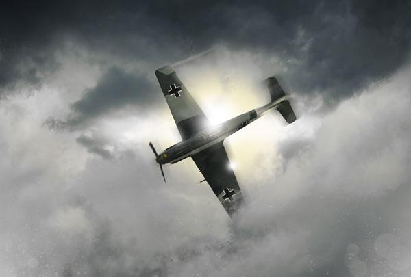 stración de un avión de combate nazi de la Segunda Guerra Mundial.
